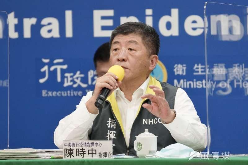 筆者認為中央流行疫情指揮中心指揮官陳時中(見圖)不夠積極的處理本土病例。(資料照,盧逸峰攝)
