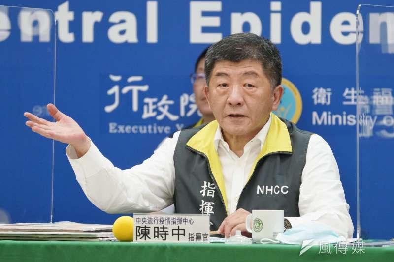 中央流行疫情指揮中心指揮官陳時中指出,日本新增1名自台灣返日的確診者、是南部某大學的學生,不能排除出現社區傳染的可能性。(資料照,盧逸峰攝)