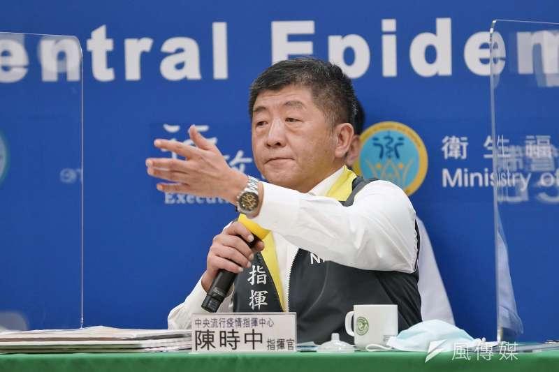 中央流行疫情指揮中心指揮官陳時中(見圖)表示,過去幾天國內無新增確診病例,目前維持446人確診,其中435人解除隔離。(資料照,盧逸峰攝)
