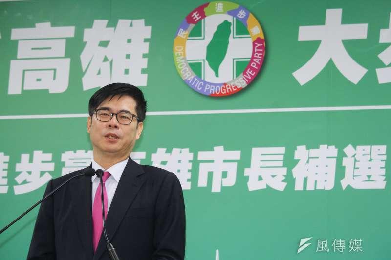20200617-民進黨召開「2020民主進步黨高雄市長補選徵召提名記者會」,圖為補選徵召提名人陳其邁。(蔡親傑攝)