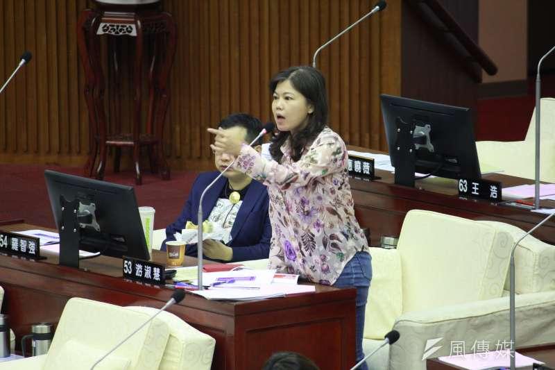20200619-國民黨台北市議員游淑慧。(方炳超攝)