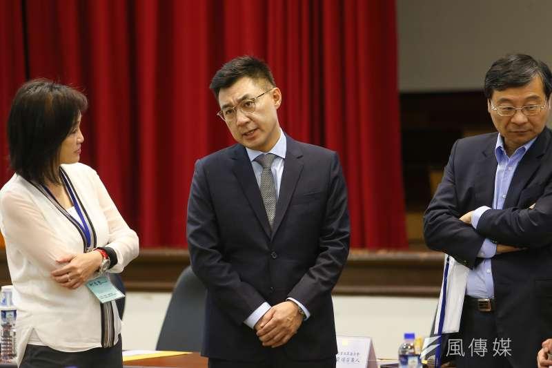 國民黨改革委員會全體會議發表兩岸論述報告。圖為國民黨主席江啟臣出席改革委員會全體會議。(顏麟宇攝)