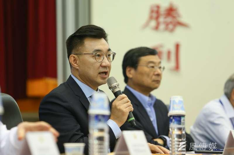 國民黨主席江啟臣出席改革委員會全體會議。(顏麟宇攝)