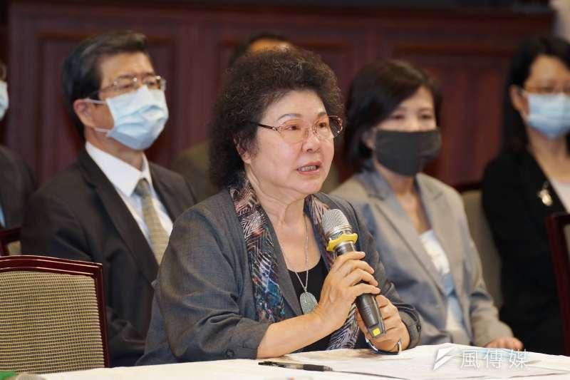 20200622-總統府22日舉行監察院第6屆監察委員被提名人介紹記者會,院長被提名人陳菊出席。(盧逸峰攝)