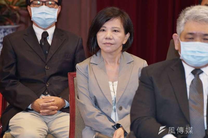 20200622-總統府22日舉行第6屆監察院被提名人記者會,被提名人葉宜津出席。(盧逸峰攝)