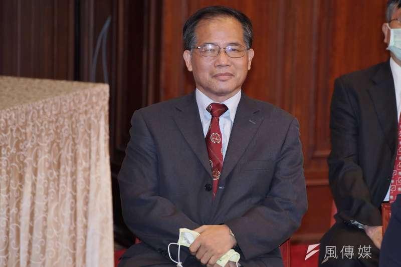 20200622-總統府22日舉行第6屆監察院被提名人記者會,被提名人林文程出席。(盧逸峰攝)