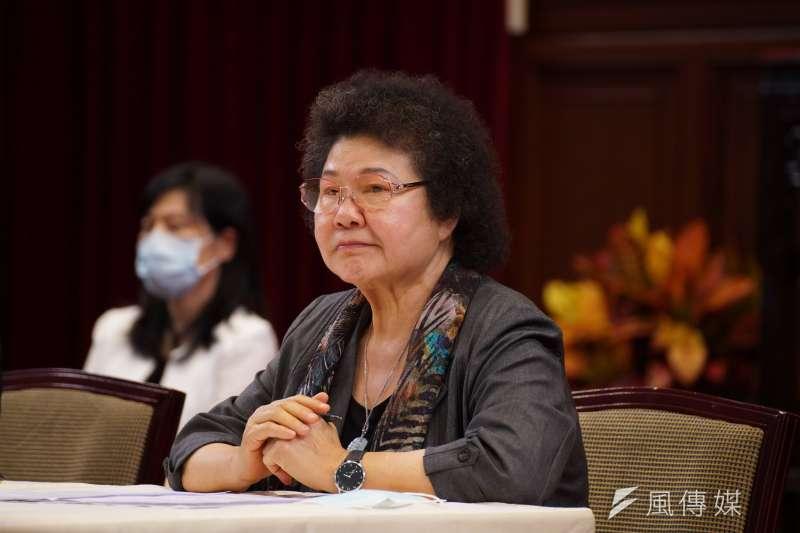 總統府22日舉行第6屆監察院被提名人記者會,院長被提名人陳菊出席。(資料照,盧逸峰攝)