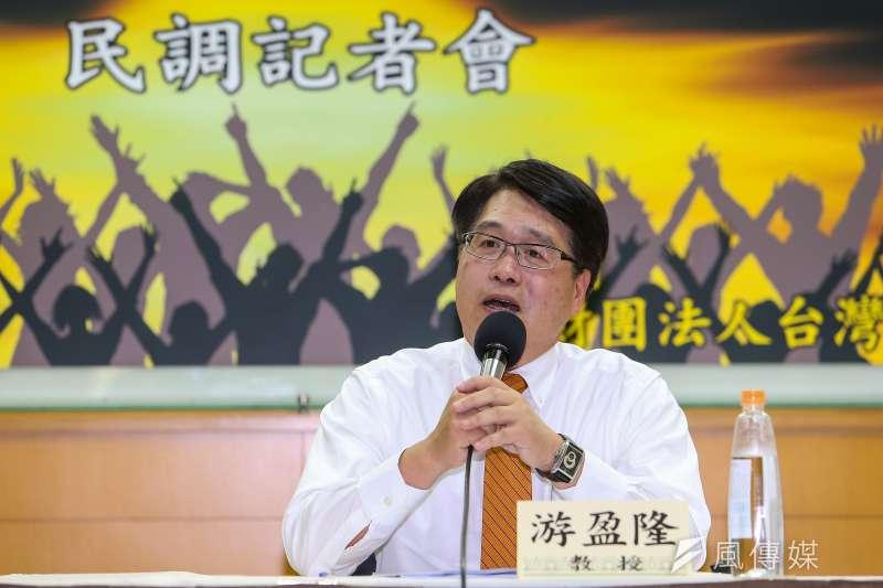 台灣民意基金會董事長游盈隆(見圖)批評民進黨護航參審制的作為是「是把人民當儍瓜嗎?」。(資料照,顏麟宇攝)