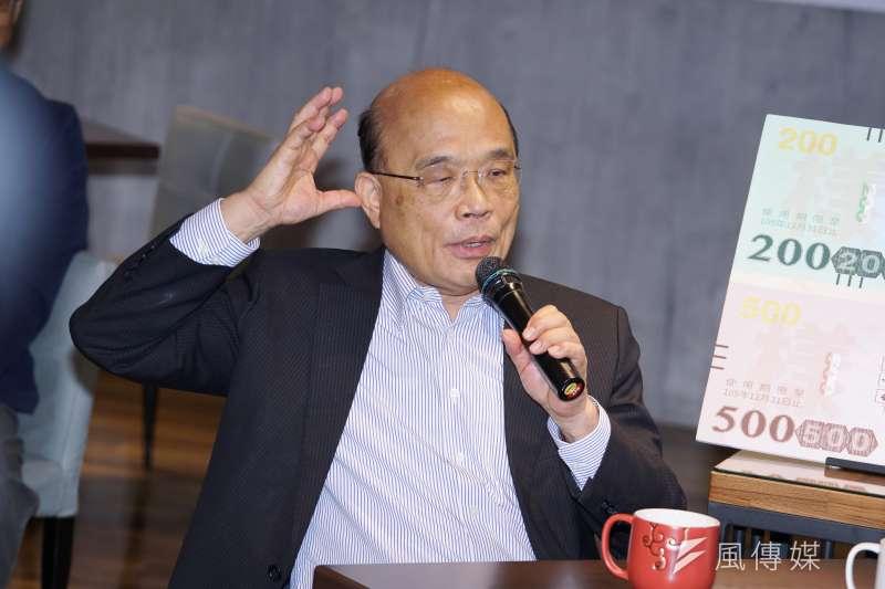 行政院長蘇貞昌最近駡基層治安捧女兒,都引來非議。(盧逸峰攝)