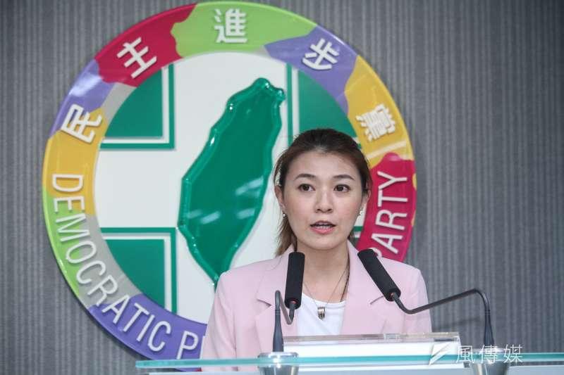 民進黨發言人顏若芳反擊國台辦「台灣無言論自由」的批評。(資料照片,蔡親傑攝)