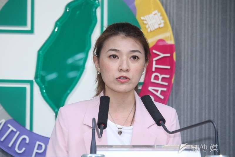 民進黨發言人顏若芳(見圖)被指與民進黨立委王定宇同居。(資料照,蔡親傑攝)