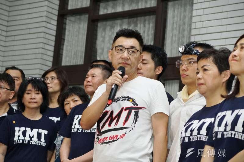 國民黨主席江啟臣表示將出海宣示對釣魚台主權,民進黨則批評江啟臣未抗瑞中國。(資料照片,盧逸峰攝)
