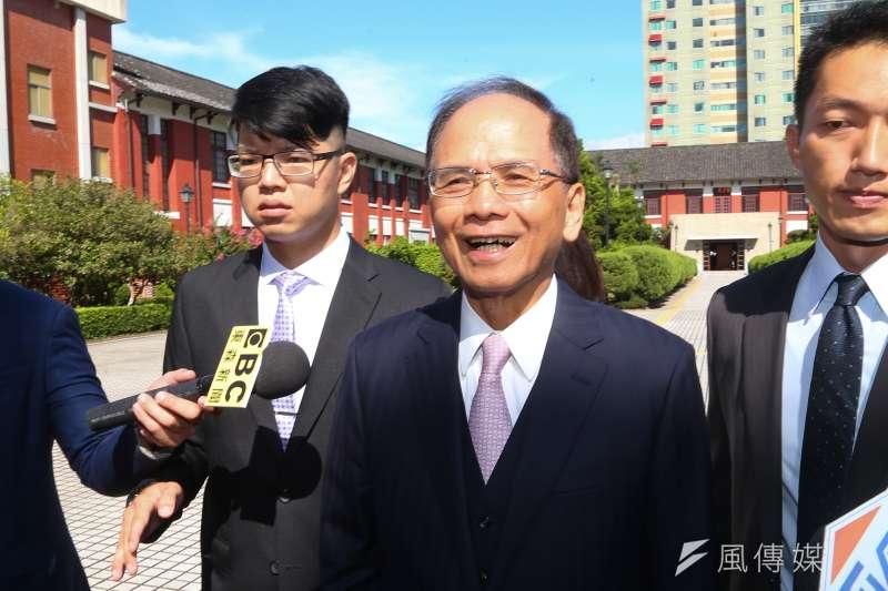 20200629-立法院長游錫堃29日接受媒體聯訪。(顏麟宇攝)