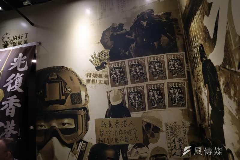 台北保護傘餐廳,為香港律師黃國桐協助在台尋求庇護的香港人維持生計,在台灣公館開設的餐廳。(蔡娪嫣攝)