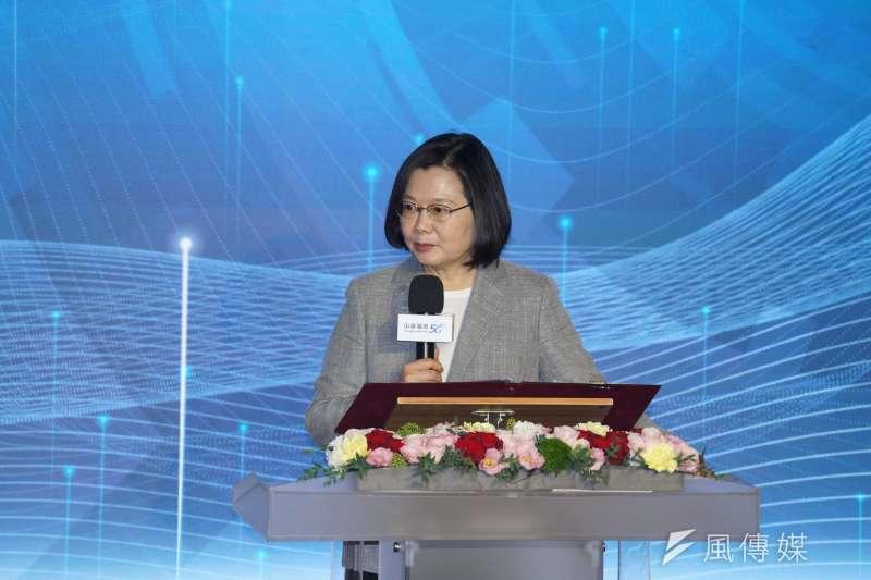 總統蔡英文(見圖)表示,對中國無法履行對香港的承諾感到非常失望,也證明了「一國兩制」是不可行的。(盧逸峰攝)