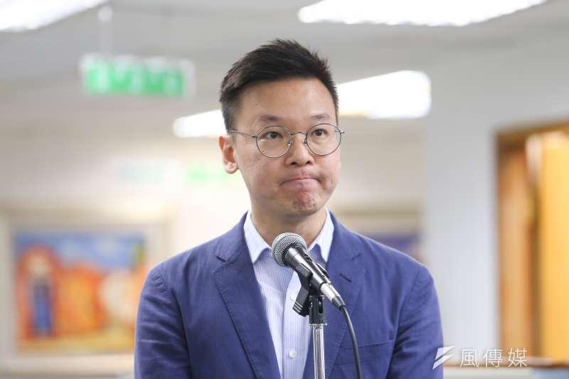 民進黨副秘書長林飛帆在臉書發文,表示港人在短短幾年內奮起,都是北京逼出來的。(資料照,顏麟宇攝)
