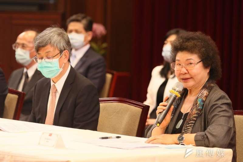 陳菊(右)表明不會因為國民黨的動作做改變。(柯承惠攝)