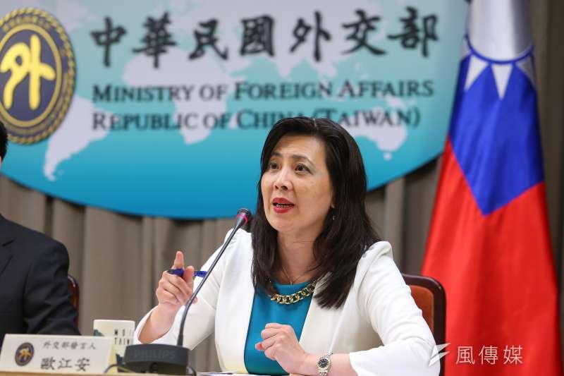 外交部發言人歐江安。(資料照,顏麟宇攝)