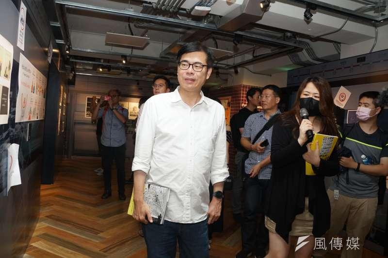 TVBS民調中心公布最新民調,民進黨參選人陳其邁(如圖)獲得54%的支持度,大勝國民黨候選人李眉蓁支持度約32個百分點。(資料照,盧逸峰攝)
