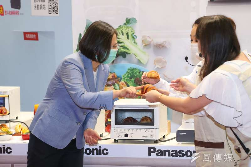 20200703-總統蔡英文3日出席「第30屆臺北電器空調3C影音大展開幕記者會」。(顏麟宇攝)