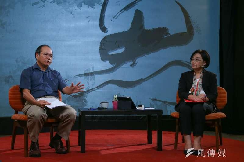 20200704-政大經濟系教授林祖嘉(左)、天下雜誌副總編輯陳一姍(右)4日出席思沙龍「美國的下一步? 全球化與反全球化的經濟大浪潮」座談。(顏麟宇攝)