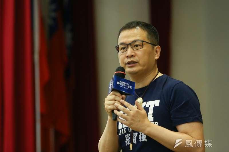 台北市議員、國民黨革實院主任羅智強的政治獻金,被監察院糾出四筆身份證字號與人名不符,其中一筆甚至只有三百零六元。(顏麟宇攝)