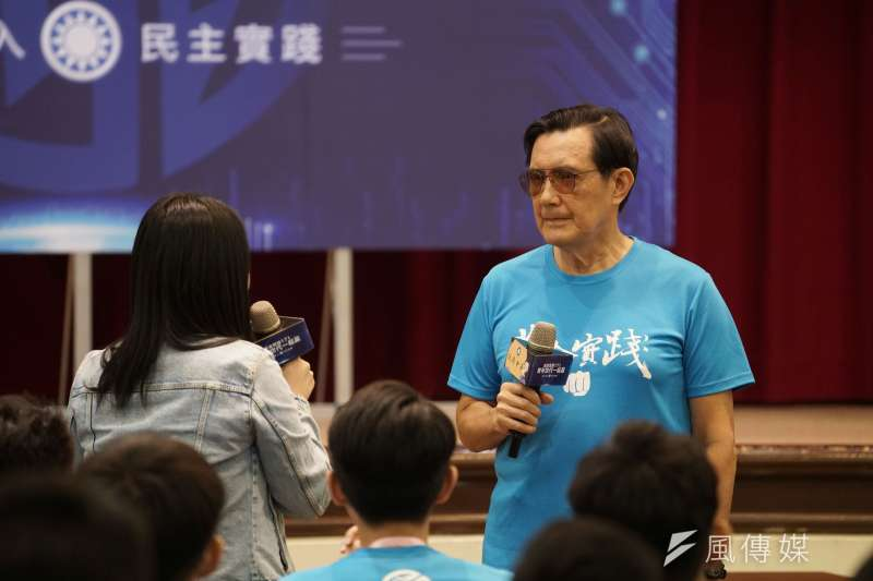 香港回歸23年當天,《港區國安法》正式上路,「一國兩制」走入歷史。前總統馬英九接受媒體訪問時,並未正面回應。(盧逸峰攝)