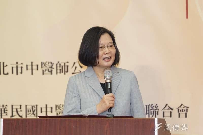 被指訓斥大法官呂太郎,總統蔡英文(見圖)表示,沒有所謂的斥責,應該有的尊重及禮貌都有的。(資料照,盧逸峰攝)