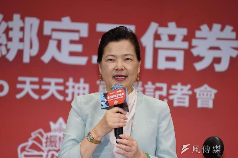 經濟部長王美花(見圖)說明,國內口罩量還很足夠,每日800萬片的徵用量目前也不會提升。(資料照,盧逸峰攝)