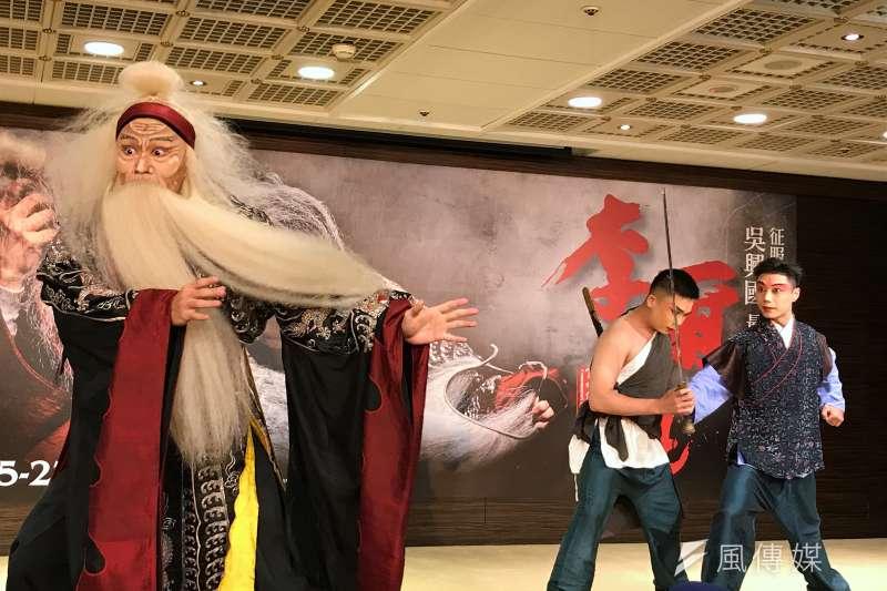 20200706-吳興國學生演岀《李爾在此》精彩片段。(吳尚軒攝)
