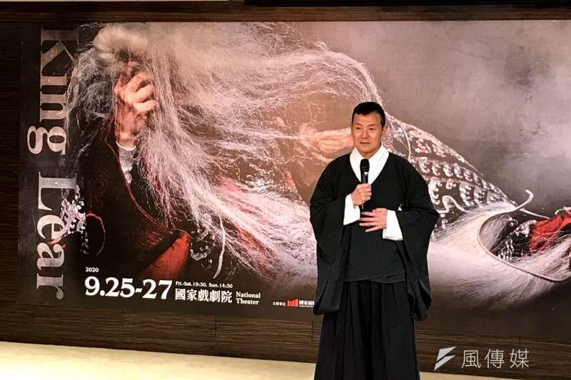 當代傳奇劇場藝術總監吳興國(見圖)曾以1人分飾10角的《李爾在此》走過20國、登上50城劇院,如今在征戰多年後,終於要在9月首度登上兩廳院國家戲劇院舞台。(吳尚軒攝)