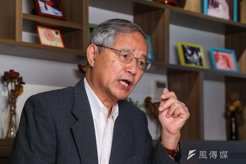 台大經濟系名譽教授陳添枝指出,貿易戰沒有贏家,美中貿易戰打到現在,中國輸得多。(顏麟宇攝)