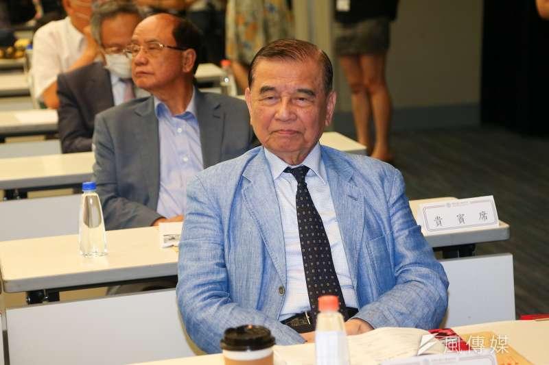 20200708-工商協進會榮譽理事長黃茂雄8日出席「公亮紀念講座」。(顏麟宇攝)