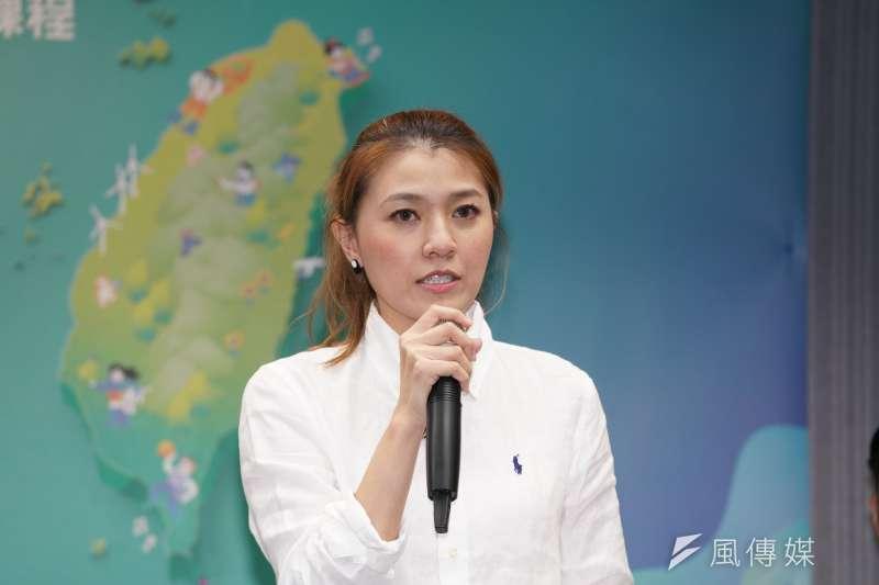 民進黨發言人顏若芳痛批國民黨抺黑行政院。(資料照片,盧逸峰攝)