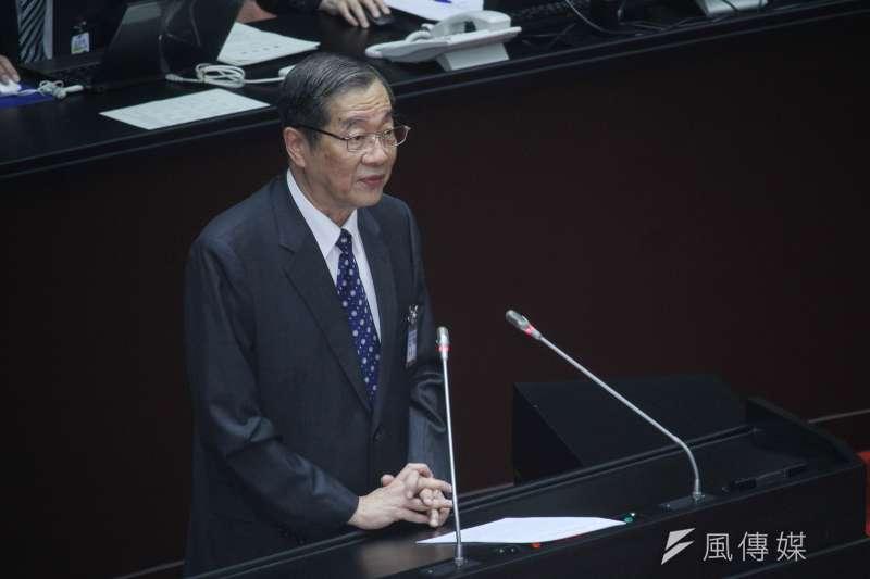 20200708-考試院長被提名人黃榮村至立院說明。(蔡親傑攝)