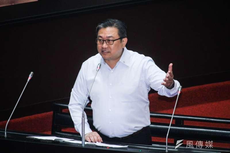 20200708-立委王定宇出席立院進行質詢。(蔡親傑攝)
