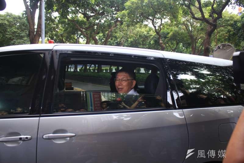 2018年台北市長選舉,《屠殺》一書作者葛特曼當時質疑柯文哲涉入器官仲介案,還批柯文哲是「騙子」,柯文哲憤而提告妨害名譽。柯文哲今(9)日上午前往台北地檢署說明約2小時。(方炳超攝)