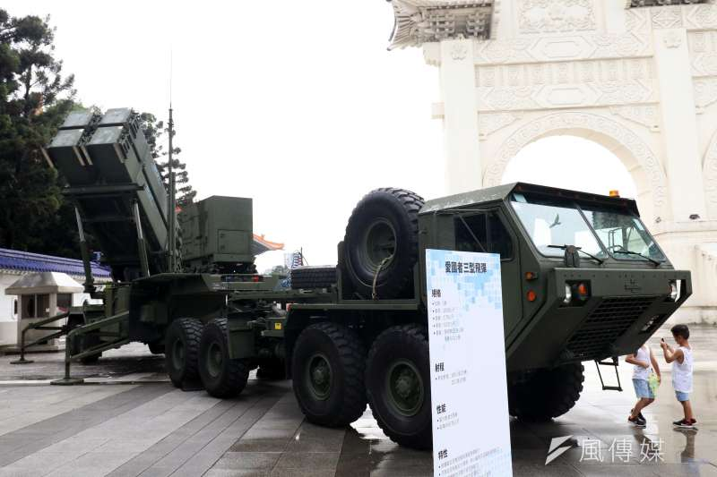 20200710-愛國者三型飛彈於自由廣場前展出。(蘇仲泓攝)