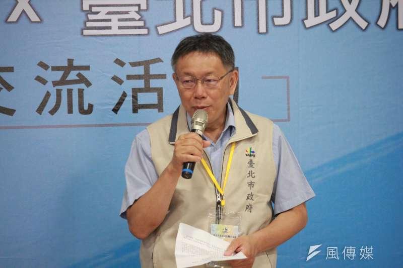 台北市長柯文哲(見圖)幫民眾黨高雄市長補選候選人吳益政站台時表示,從車禍死亡人數可看出高雄近年已經「亂掉了」(資料照,方炳超攝)