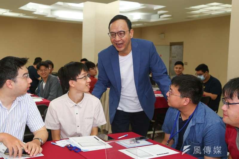 20200711-前國民黨主席朱立倫11日出席日知學塾結業式。(顏麟宇攝)