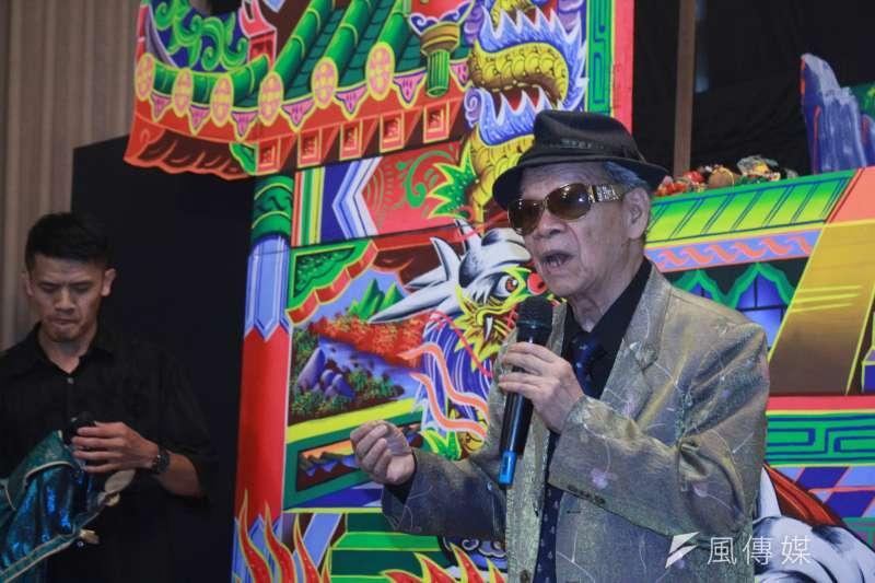 20200711-國寶級布袋戲大師黃俊雄操偶演出。(方炳超攝)
