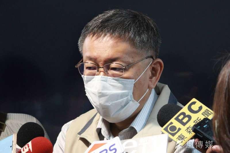 針對前瞻預算案國民黨未投票表達抗議,台北市長柯文哲直言,執政黨有效的收買了所有的人。(方炳超攝)