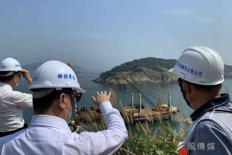 大坵橋是連江縣首座跨海橋梁,預計在111年11月底完工。( 圖片提供:內政部)