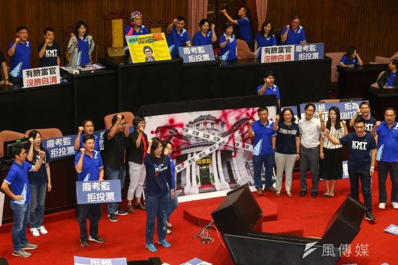 國民黨黨團總召林為洲在政論節目上首度坦承,「陳菊在監察院裡面完全沒有任何一件案子」。(資料照,顏麟宇攝)