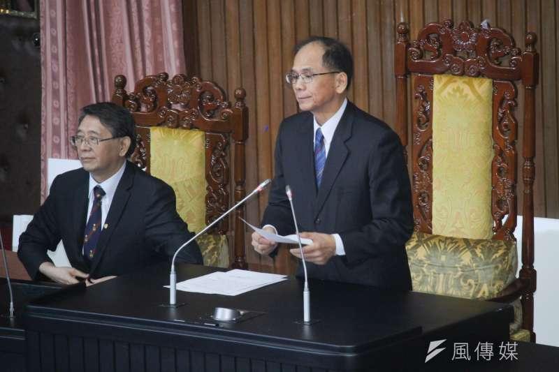 20200717-立法院長游錫堃宣布立委投票同意權結果,陳菊當選監察院長。(蔡親傑攝)