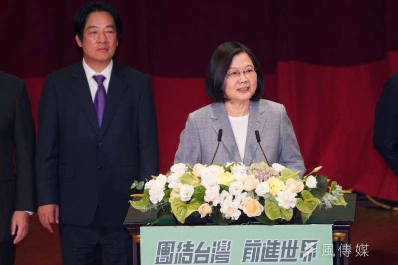 20200719-民進黨主席、總統蔡英文19日於全代會致詞。(盧逸峰攝)