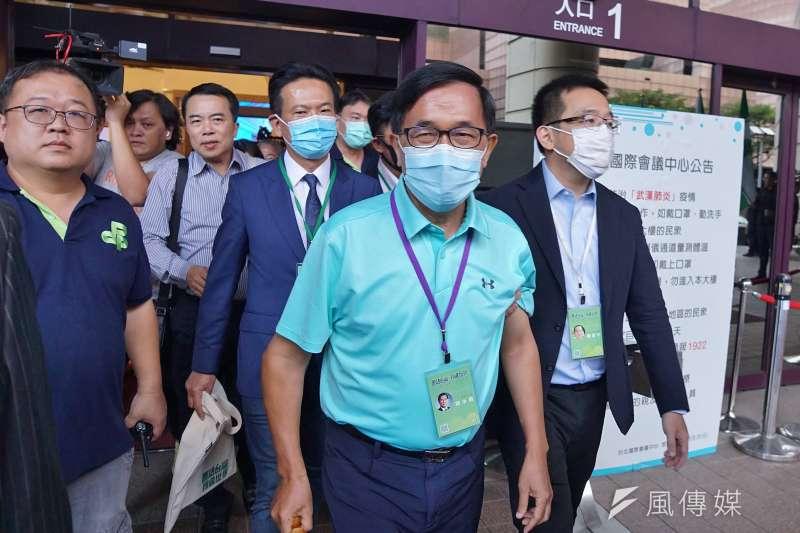 20200719-前總統陳水扁19日出席民進黨全代會。(盧逸峰攝)