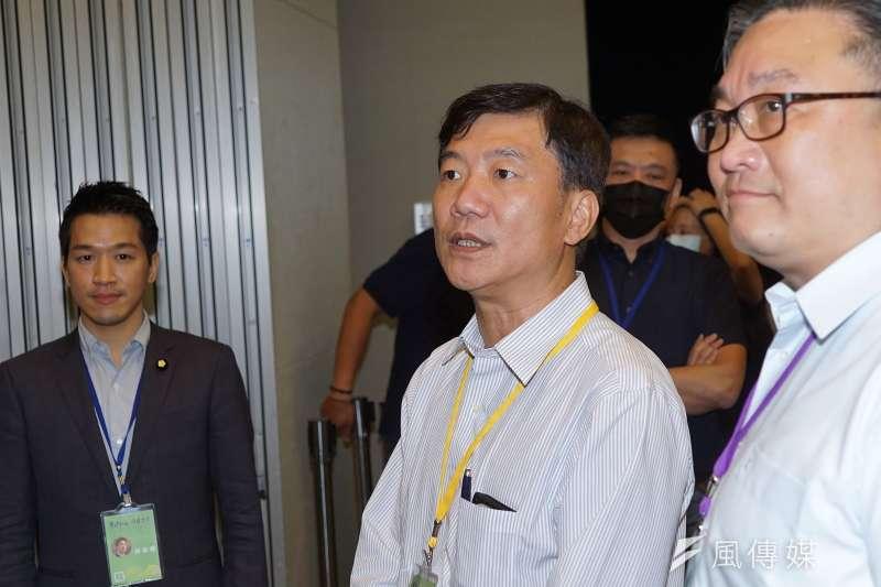 20200719-民進黨全代會19日進行中執委選舉,高雄市前副議長蔡昌達出席。(盧逸峰攝)