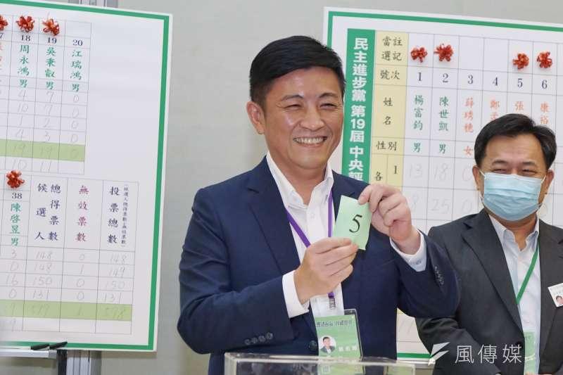 20200719-民進黨全代會19日進行中執委選舉,前新竹市議員鄭宏輝參與抽籤。(盧逸峰攝)