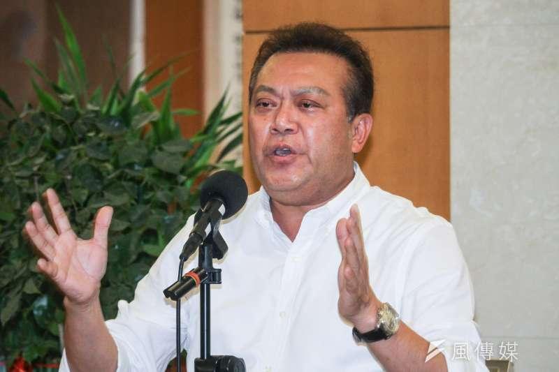20200720-立委蘇震清召開記者會說明被質疑私訪印尼為不實指控。(蔡親傑攝)